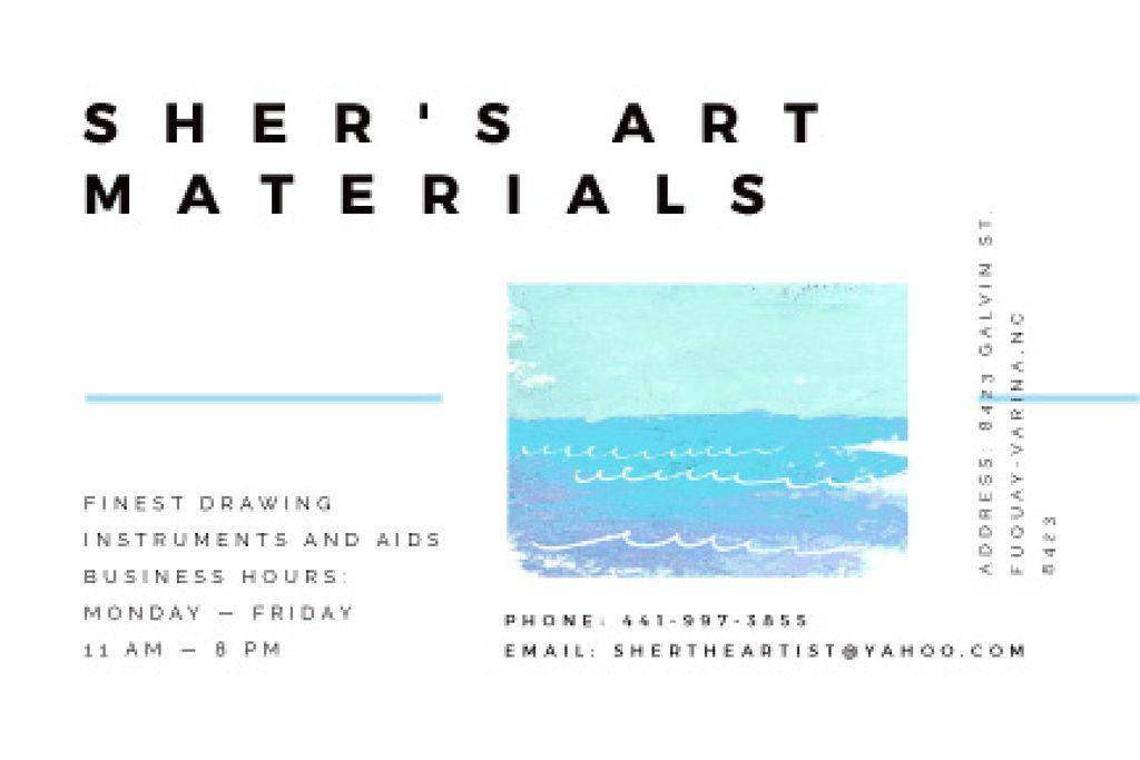 Art materials shop Offer Gift Certificate Design Template