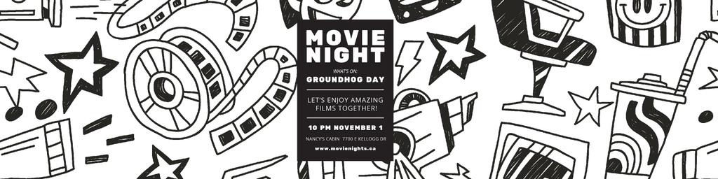 Movie night event Announcement — Створити дизайн