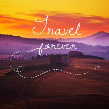 Motivational travel quote poster