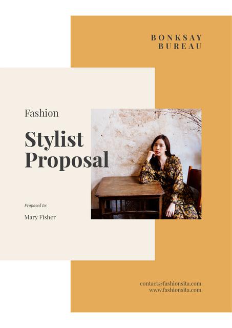 Plantilla de diseño de Professional Stylist services Proposal