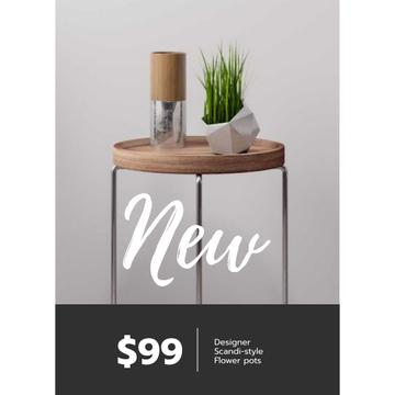 Furniture Store ad with Table and plant