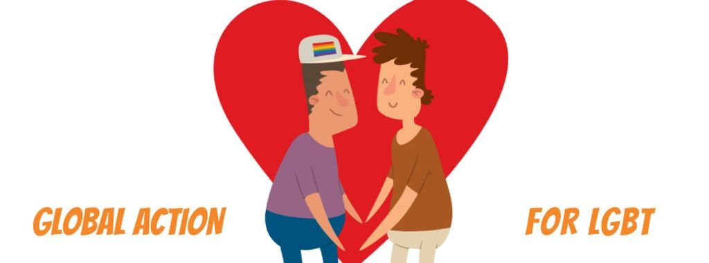 LGBT Lovers on Rainbow Heart — Crear un diseño