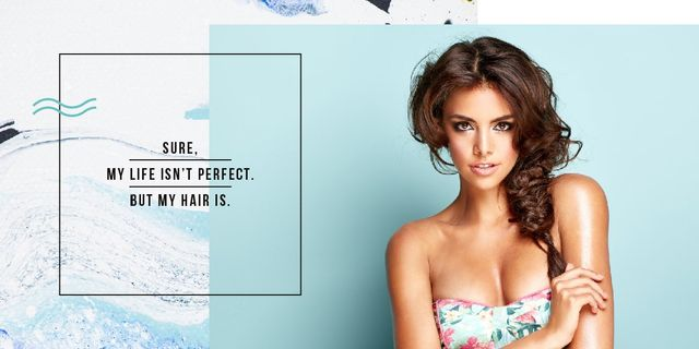 Template di design Young attractive woman Image