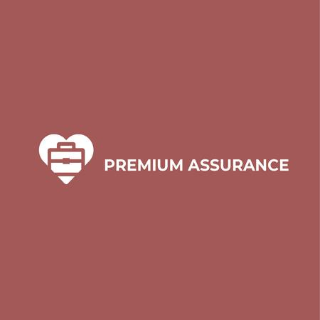 Assurance Business Ad with Briefcase in Heart Logo – шаблон для дизайну
