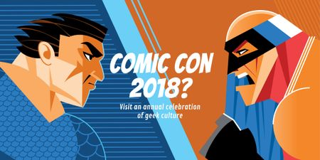Template di design Comic Con International event Image