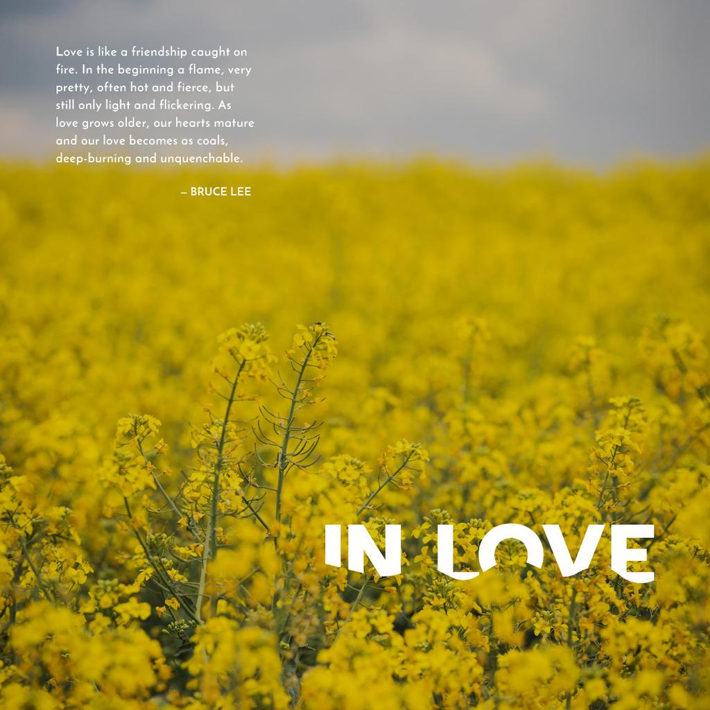 yellow rape field with quotation — Créer un visuel