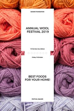 Knitting Festival Invitation Wool Yarn Skeins | Pinterest Template