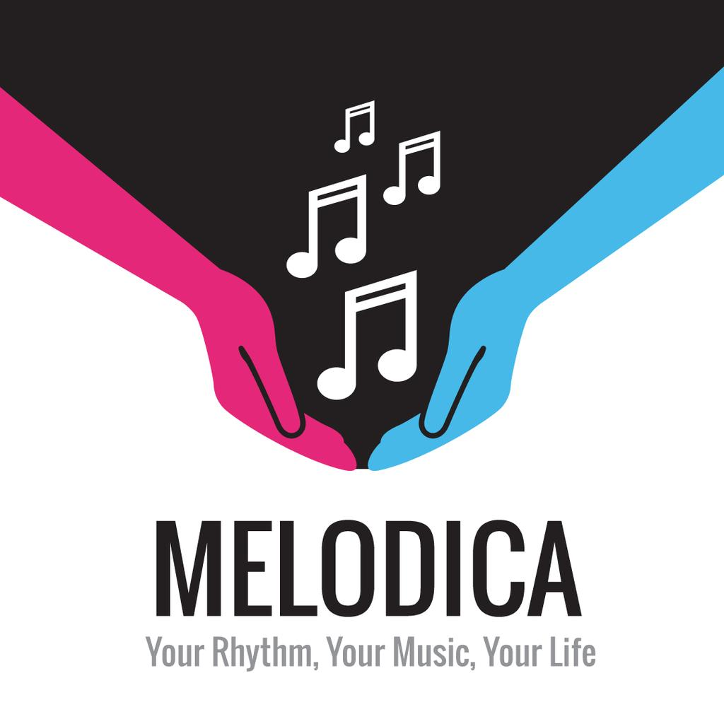 Melodica music poster — ein Design erstellen