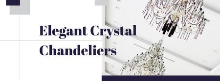 Elegant crystal Chandeliers Offer Facebook cover – шаблон для дизайну