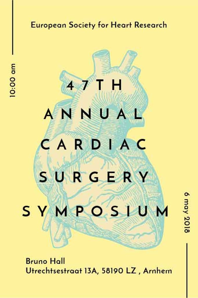 annual cardiac surgery symposium poster — Créer un visuel