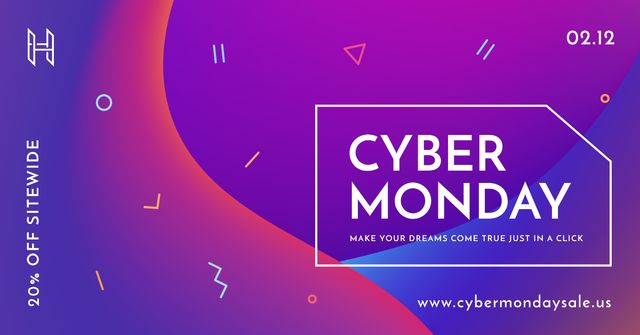 Cyber Monday sale Offer Facebook AD – шаблон для дизайну