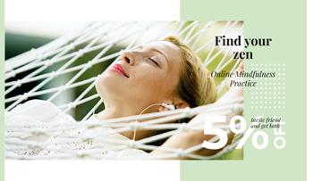 Skincare Ad with Woman Resting in Hammock
