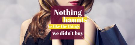 Quotation about shopping haunts Email header – шаблон для дизайну