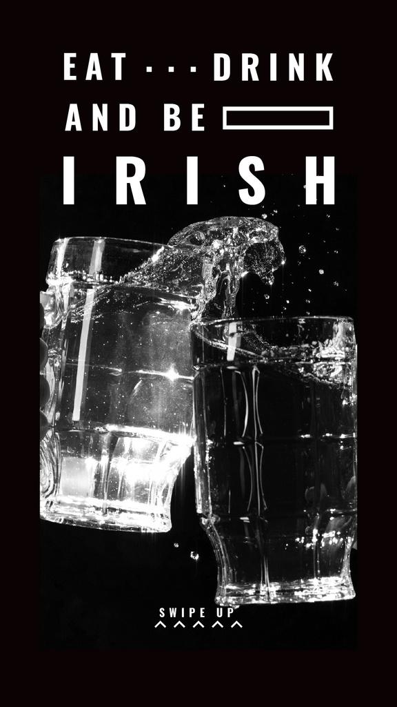 Glasses with splash of Beer on St.Patricks Day — Maak een ontwerp