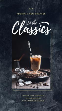 Template di design Coffee drink with ice Instagram Story