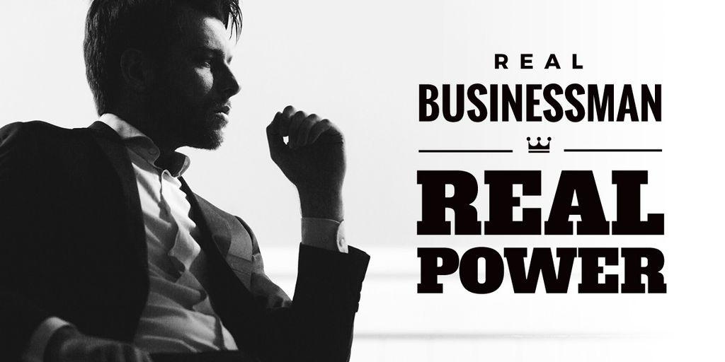 Modèle de visuel Businessman Wearing Suit in Black and White - Image