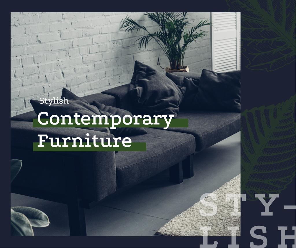 Cozy modern interior in grey — Maak een ontwerp