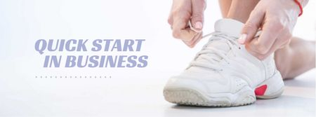 Sneaker Cleaning Service Ad in White Facebook cover Modelo de Design