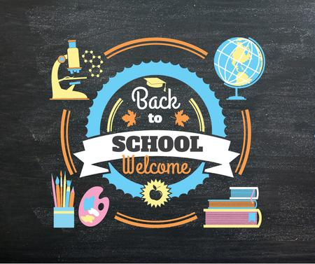 Back to Schools education and sciences icons Facebook – шаблон для дизайна