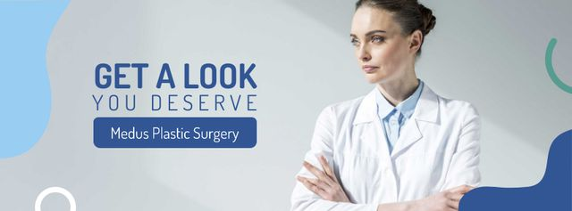Ontwerpsjabloon van Facebook cover van Plastic Surgery Clinic Doctor