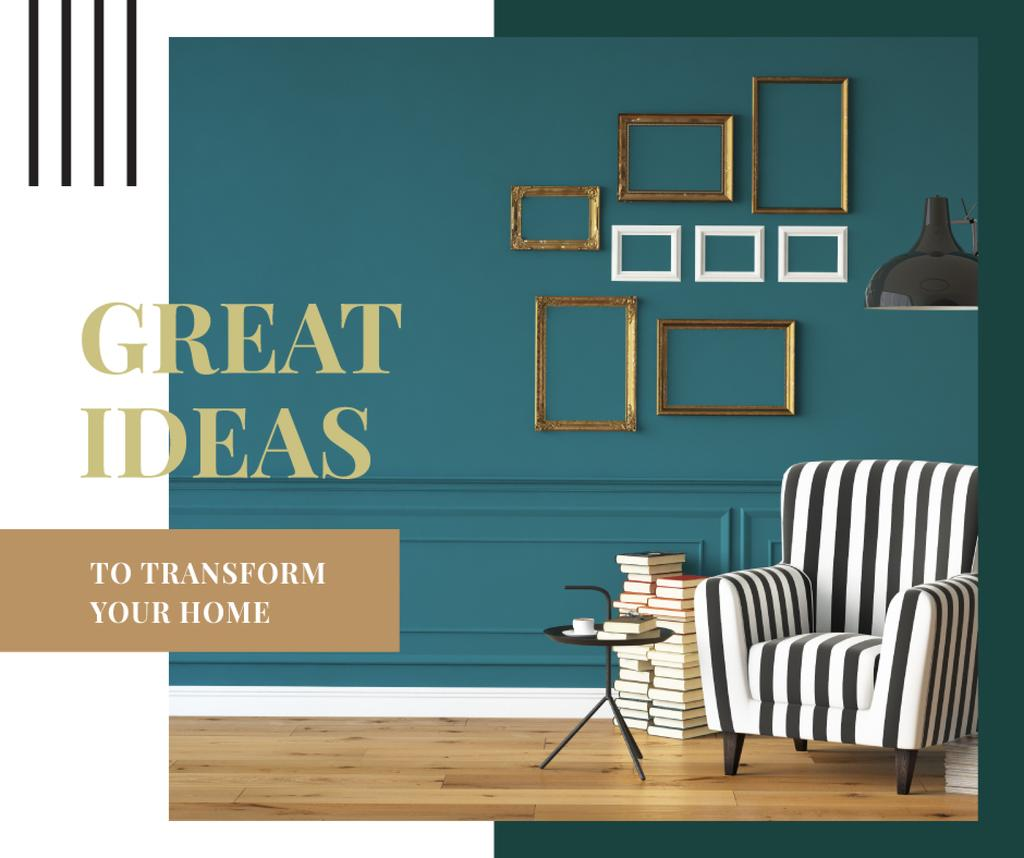 Cozy interior in monochrome colors — Maak een ontwerp