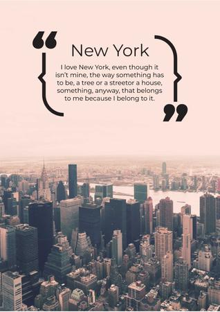 Szablon projektu Inspirational quote about New York Poster