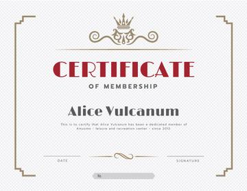 Leisure Center Membership confirmation in vintage frame
