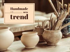 Handmade Trends Pots in Pottery Studio
