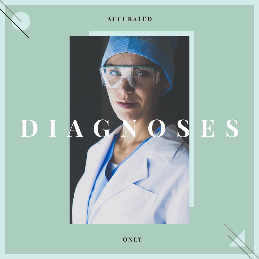 Confident Doctor wearing Protective Glasses — Modelo de projeto
