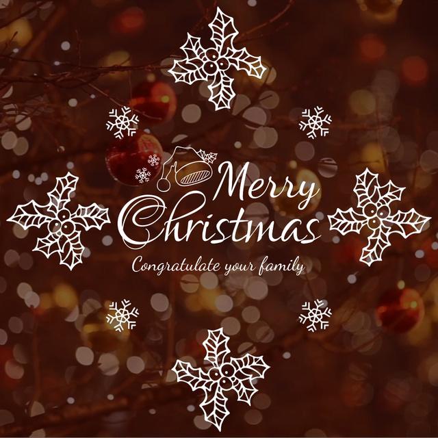 Plantilla de diseño de Shiny Christmas decorations Animated Post
