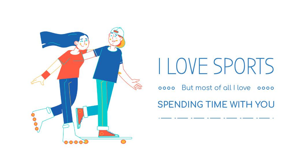 Activities for Kids Riding Skateboard and Inline Skates | Full HD Video Template — ein Design erstellen