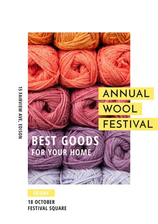 Template di design Annual wool festival Annoucement Poster