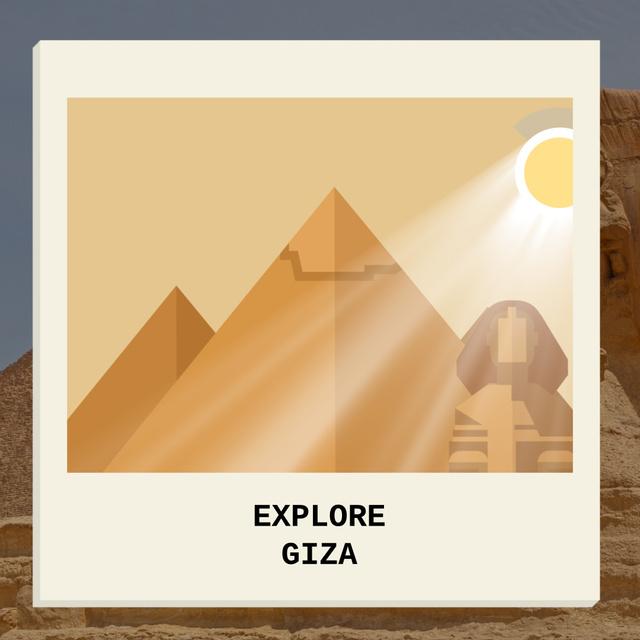 Plantilla de diseño de Giza Pyramids and Sphinx Animated Post