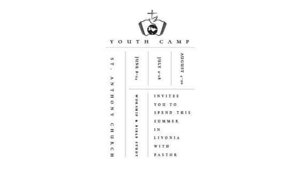 Youth religion camp Promotion in white — Crear un diseño