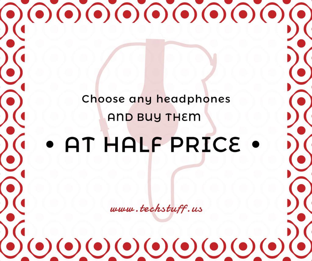 Gadgets Sale Man in Headphones — ein Design erstellen
