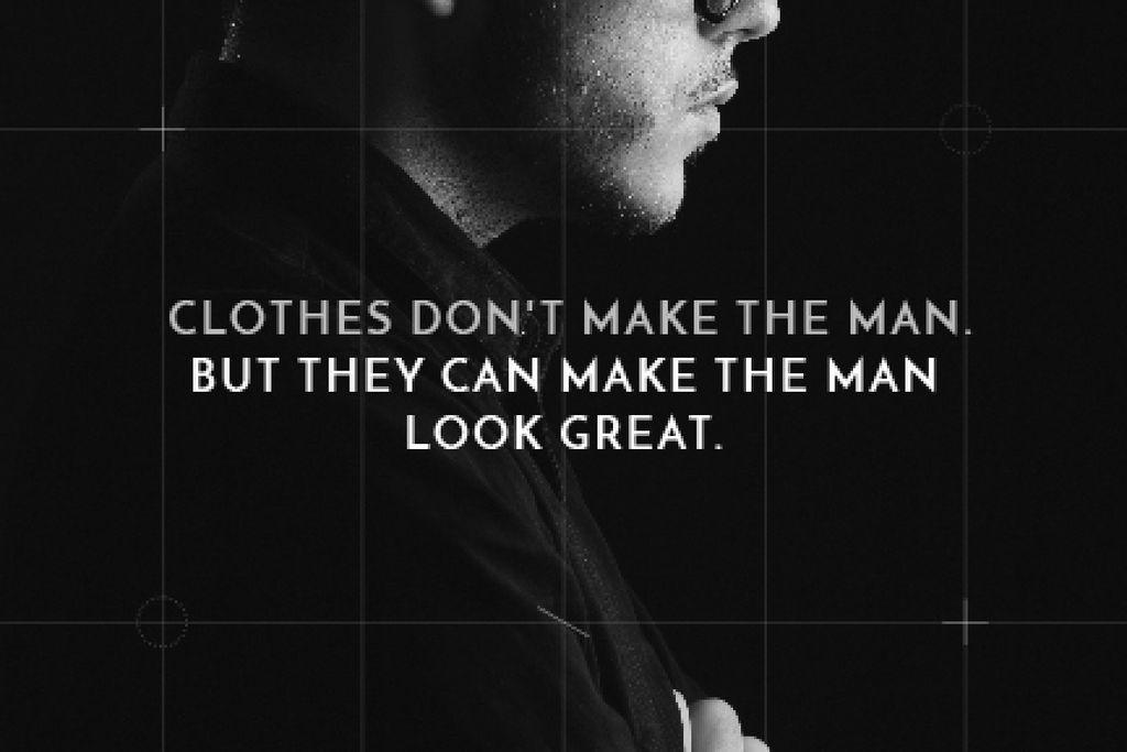 Citation about a man clothes — Crear un diseño