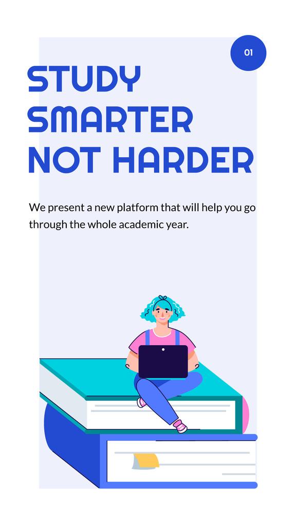 Education Platform ad with happy Students — Crear un diseño
