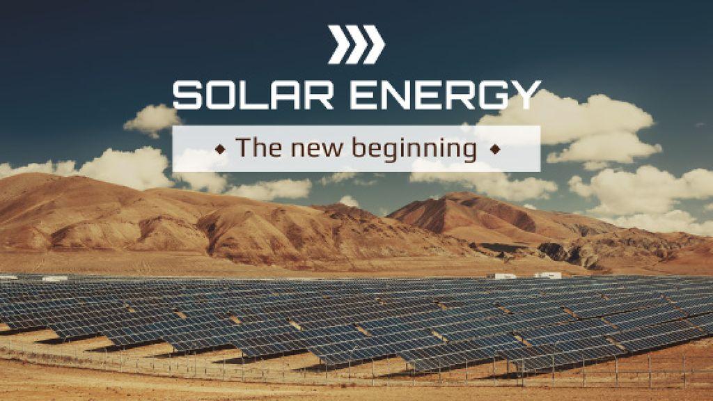 Solar energy banner — Créer un visuel