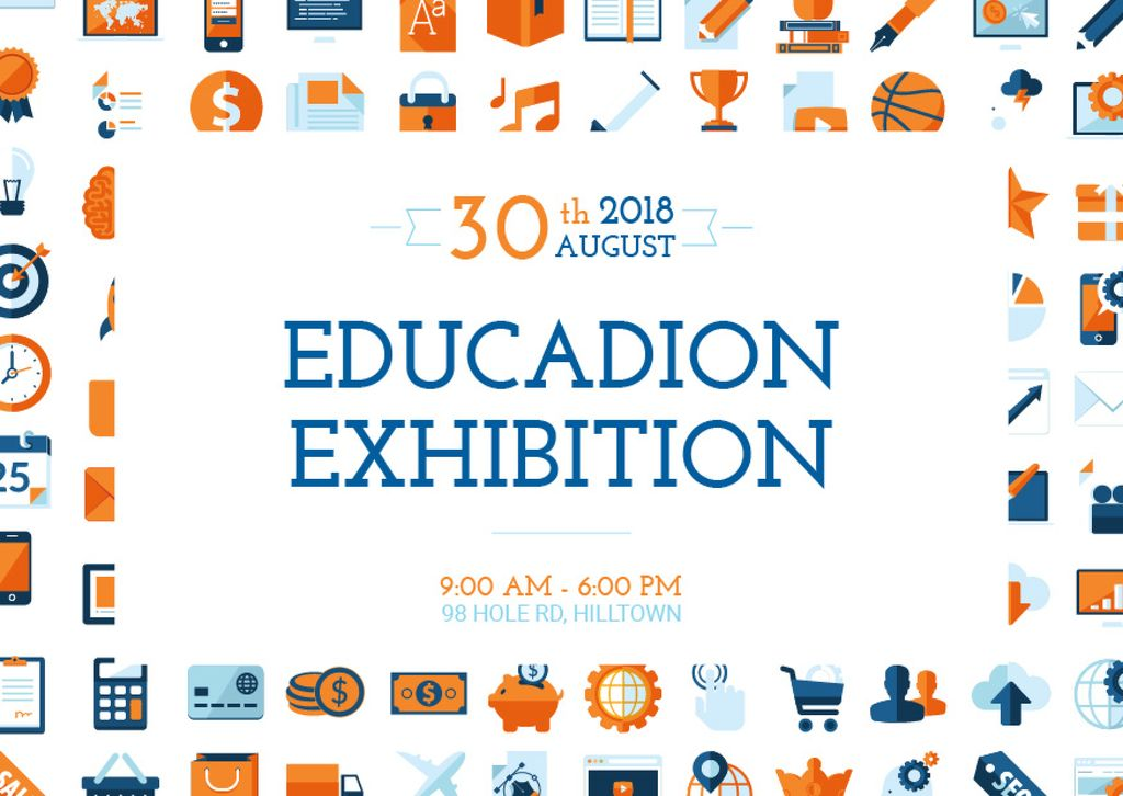 Education exhibition announcement — Crear un diseño