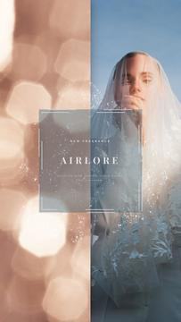 Wedding Dress Store Ad Bride in White Dress | Vertical Video Template