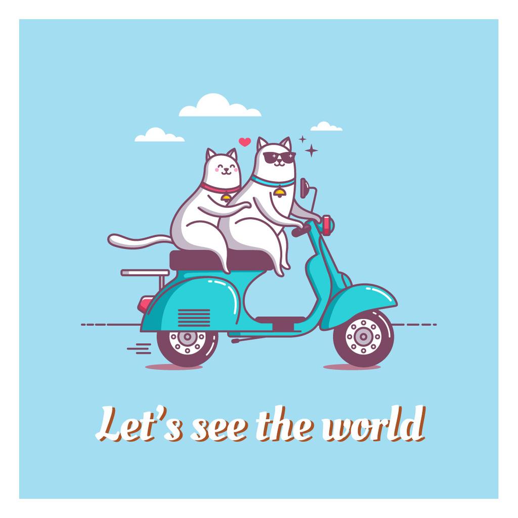 Motivational travel quote poster — Maak een ontwerp