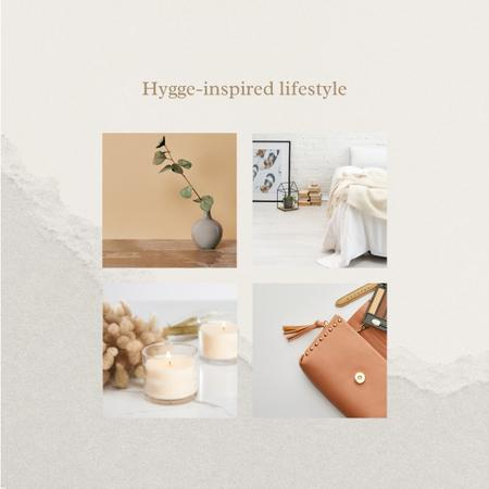 Hygge inspired Lifestyle Attributes Instagram Modelo de Design