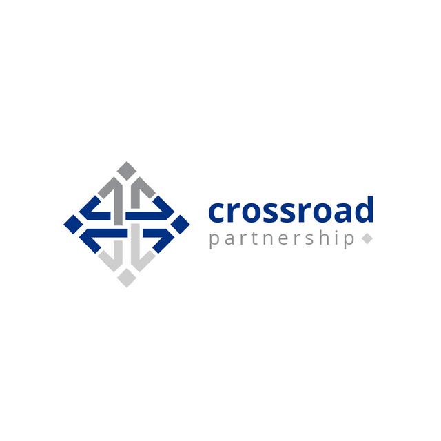 Plantilla de diseño de Business Company with Simple Arrows Icon Logo