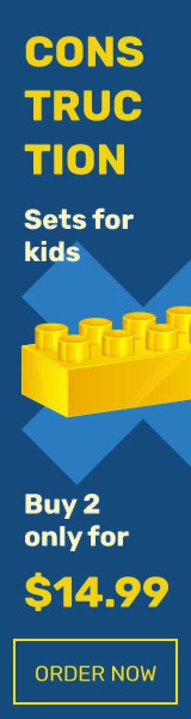 Kids constructor brick — Create a Design