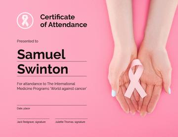 Breast Cancer Awareness program Attendance gratitude