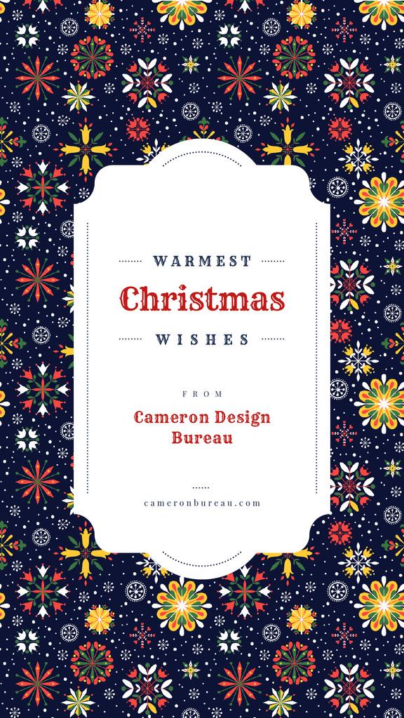 Christmas pattern with snowflakes — Crea un design