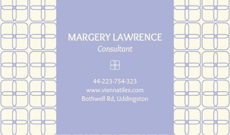 Ontwerpsjabloon van Business card van Consultant Contacts Information