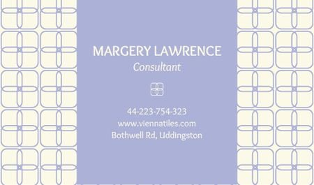 Plantilla de diseño de Consultant Contacts Information Business card