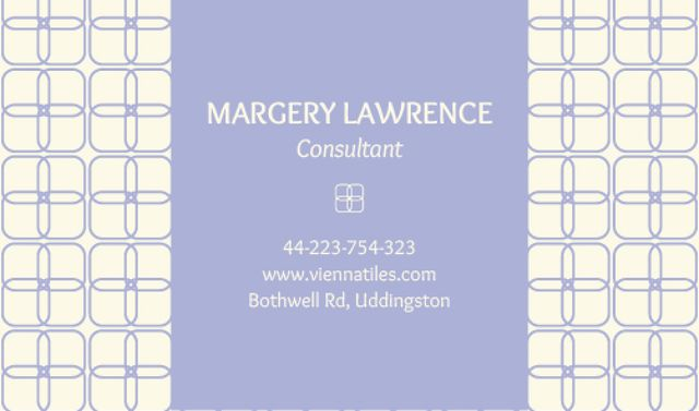 Designvorlage Consultant Contacts Information für Business card