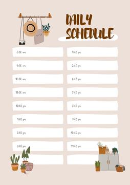 Daily schedule with Cozy interior